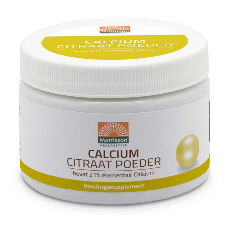Calcium Citraat Poeder - 21% elementair