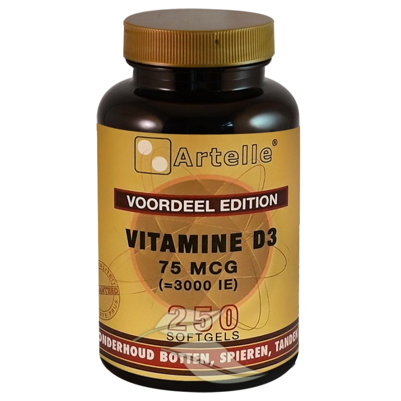 Vitamine D3, 75mcg (3000 I.E.)