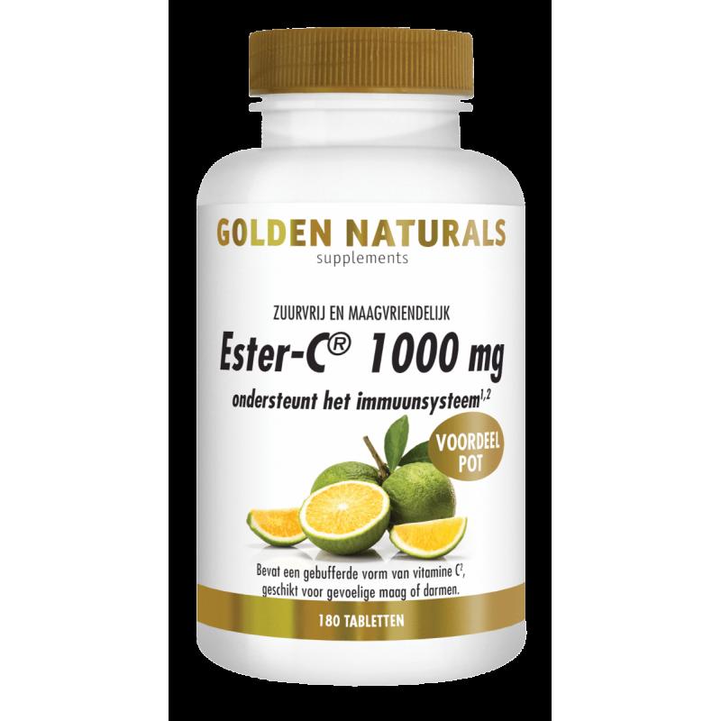 Ester-C 1000 mg. - Zuurvrij en Maagvrien...