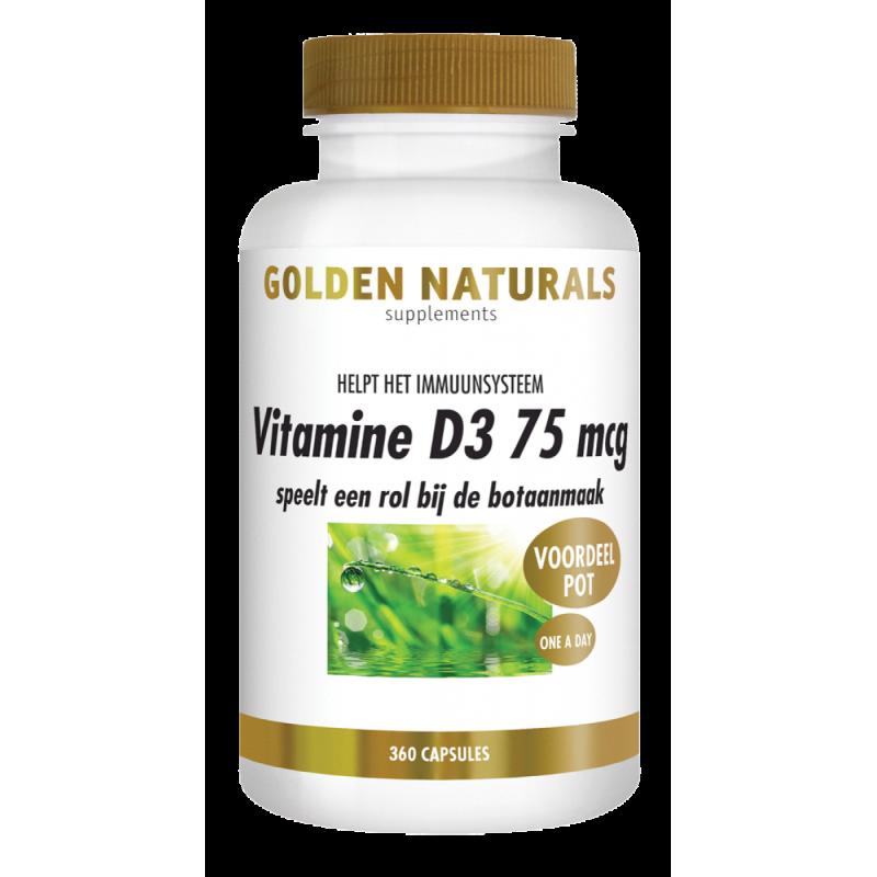 Vitamine D3 -75mcg / 3000 IE