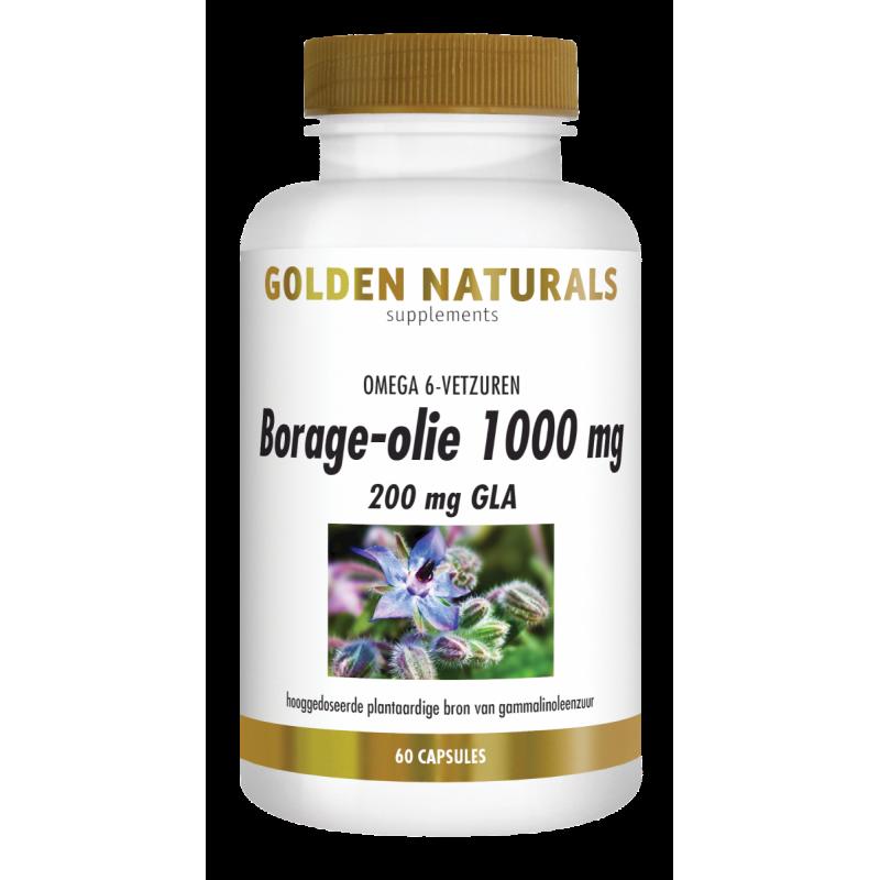 Borage-olie 1000 mg - 200 mg GLA