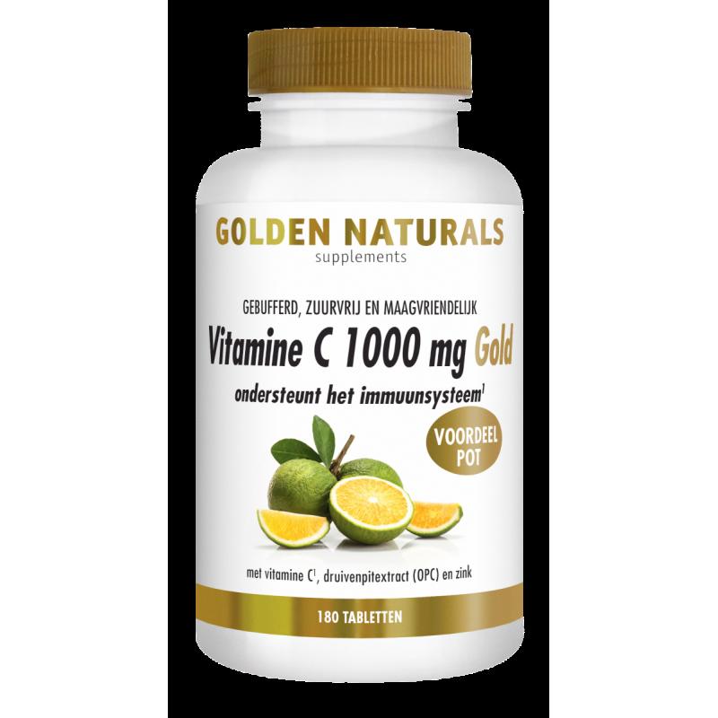 Vitamine C 1000 mg Gold - Zuurvrij en Maagvriendelijk