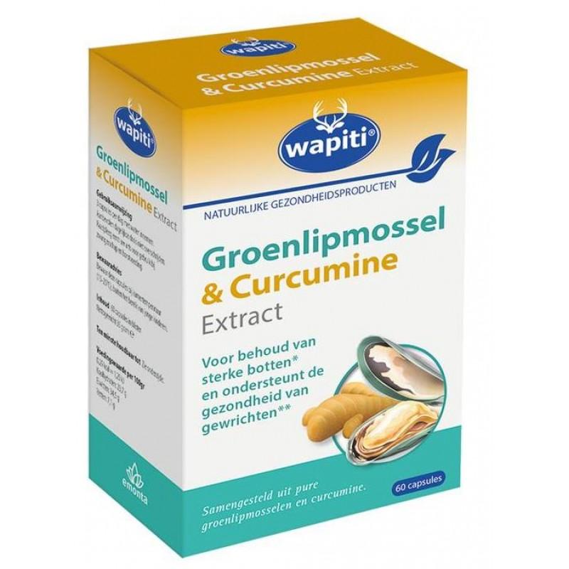 Wapiti Groenlipmossel & Curcumine Ex...