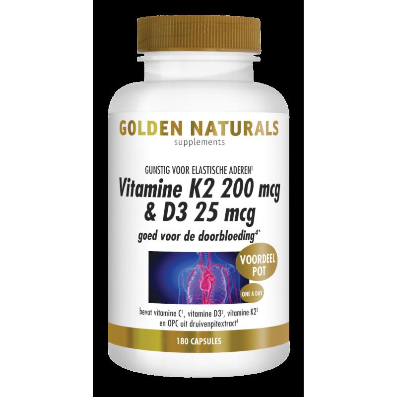 Vitamine K2 200 mcg & D3 25 mcg
