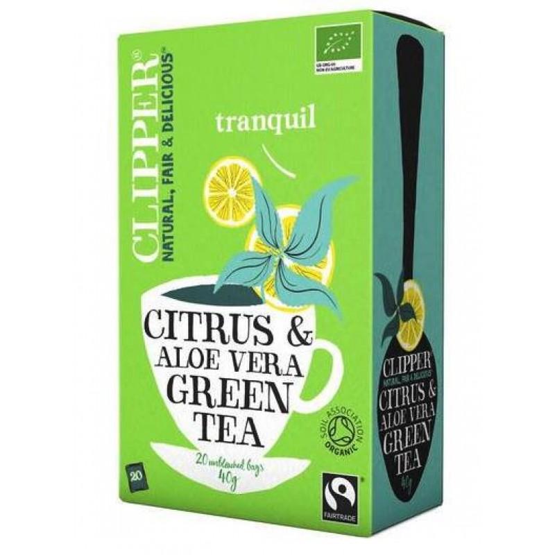 Citrus & Aloë Vera Organic Green Tea