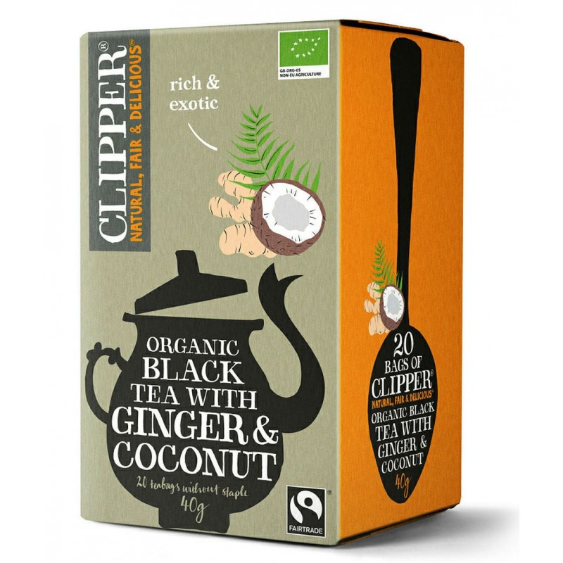 Organic Black Tea with Ginger Coconut