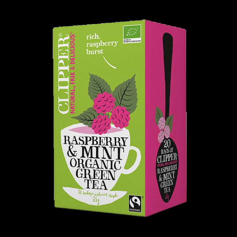 Raspberry & Mint Organic Green Tea