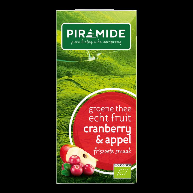 Groene Thee FRUIT Cranberry & Appel