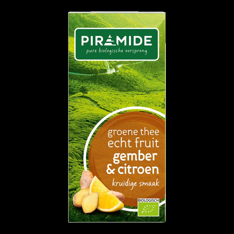 Groene Thee FRUIT Gember & Citroen