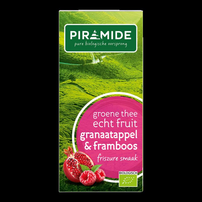 Groene Thee FRUIT Granaatappel & Framboos