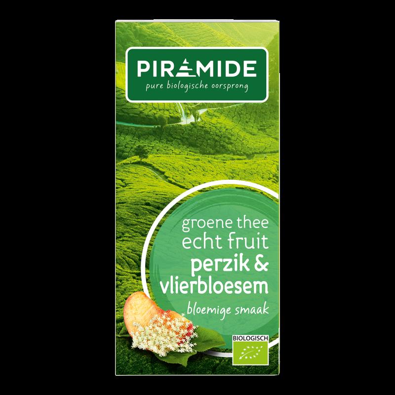 Groene Thee FRUIT Perzik & Vlierbloesem