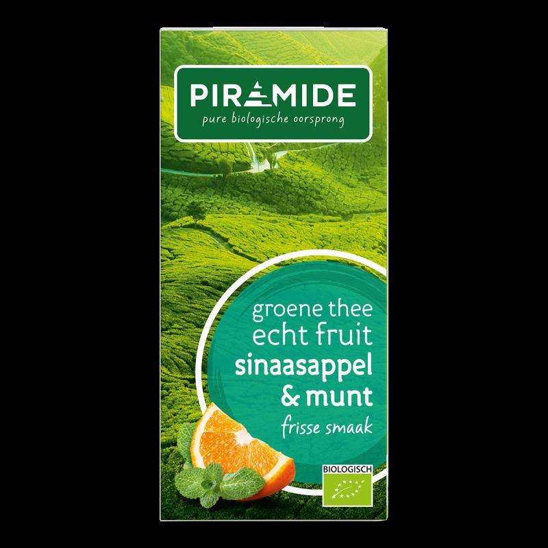 Groene Thee FRUIT Sinaasappel met Munt
