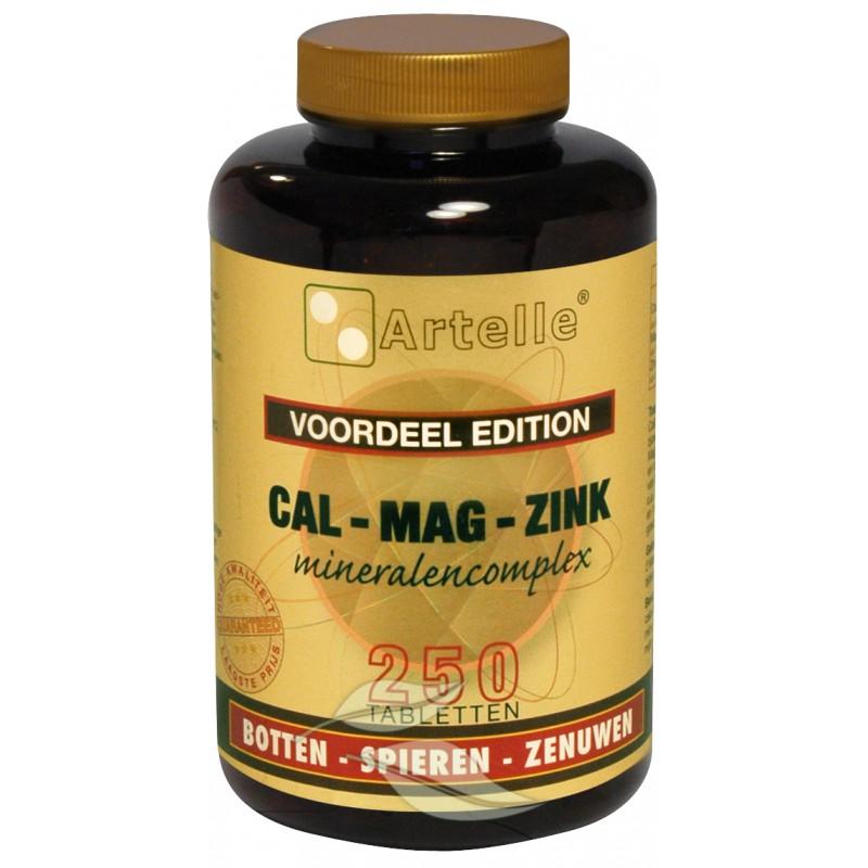 Calcium, Magnesium en Zink