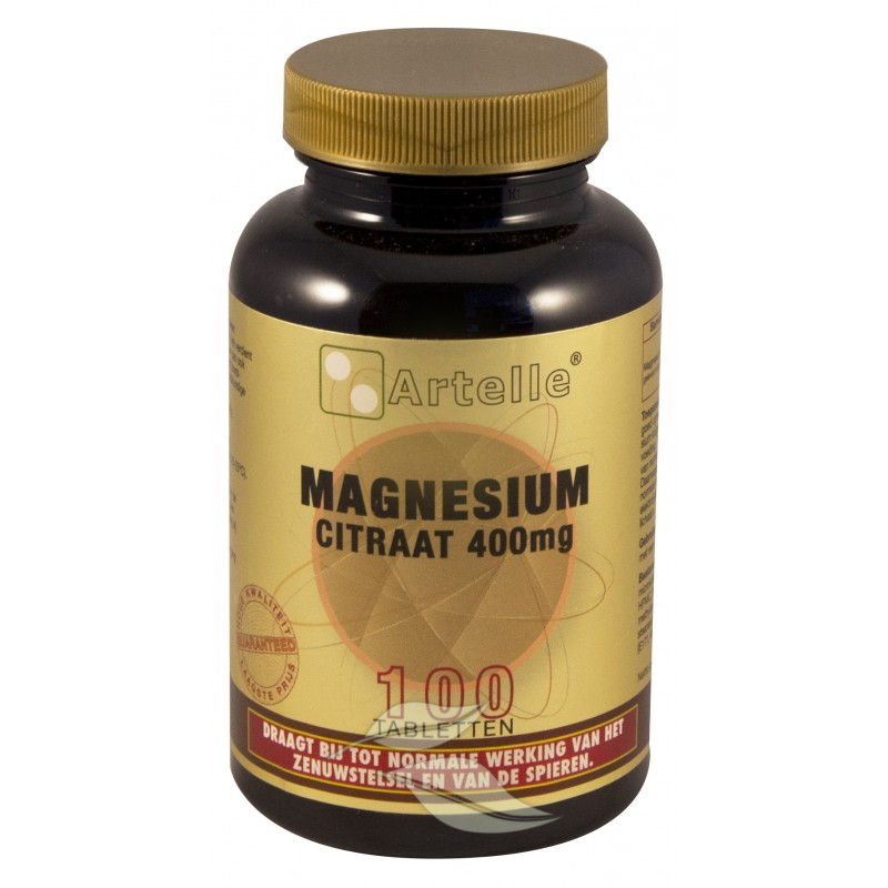 Magnesium Citraat 400 mg.