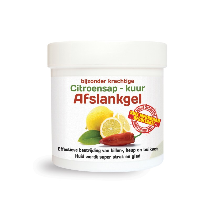 (GRATIS) 1 pot Citroensap Afslankgel t.w...