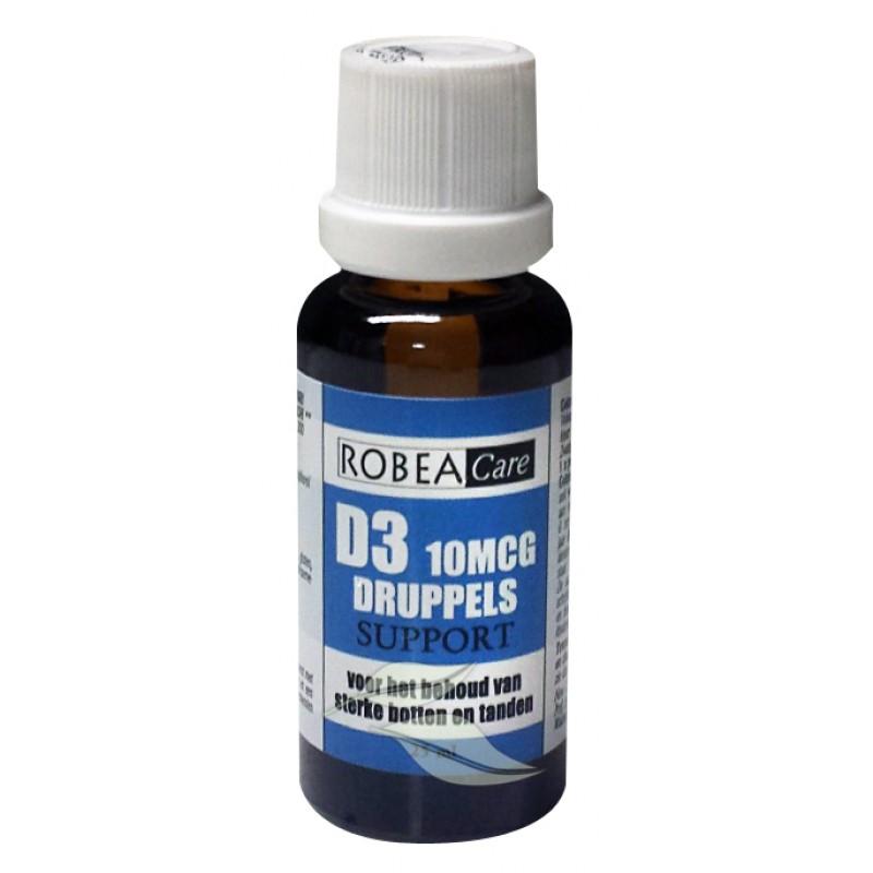 Vitamine D3 Druppels 10 mcg - 400 I.E.